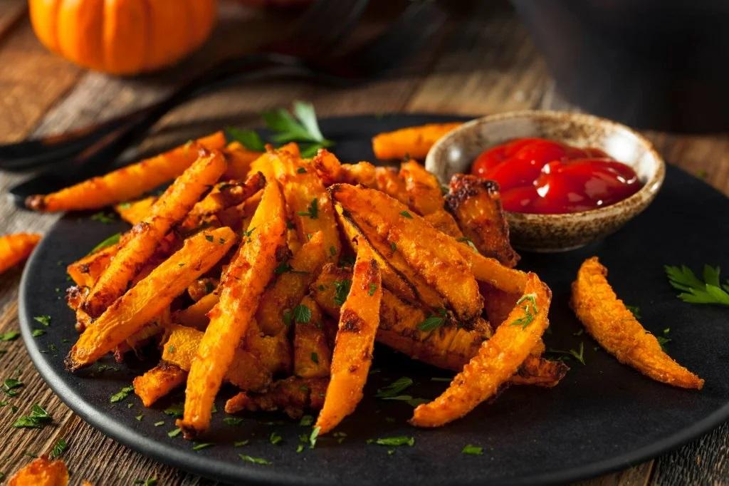 """Тыквенная """"картошка-фри"""" - лёгкая, полезная и невероятно вкусная!"""